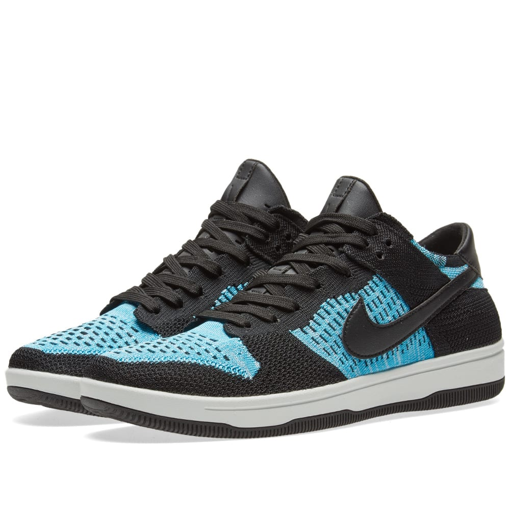 the best attitude 3b151 5a956 Nike Dunk Flyknit Black, Chlorine Blue   White   END.