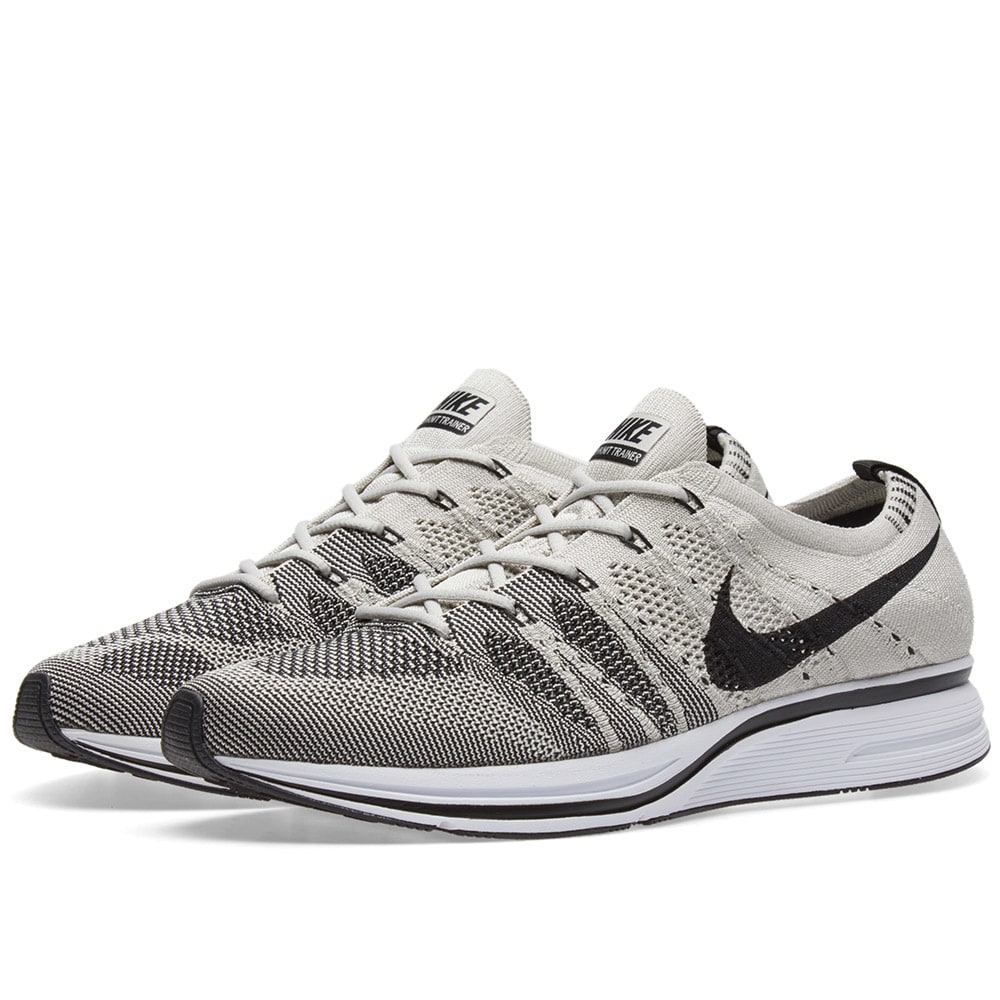 8e9e2568be49 Nike Flyknit Trainer Pale Grey   Black
