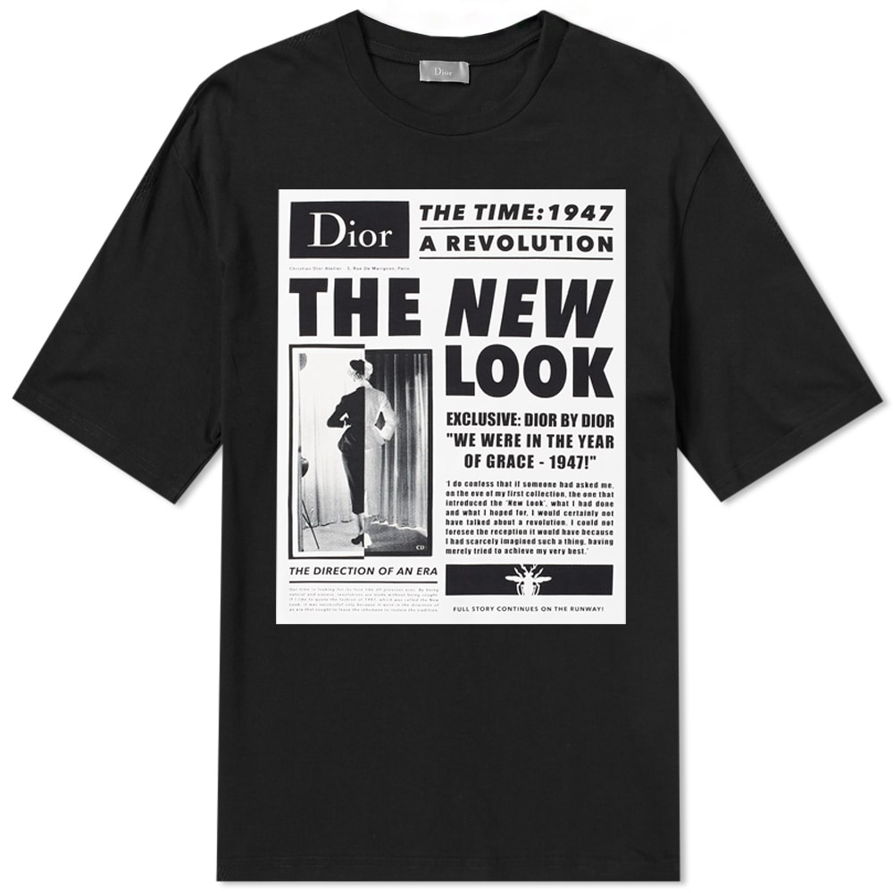 DIOR HOMME NEW LOOK PRINT TEE