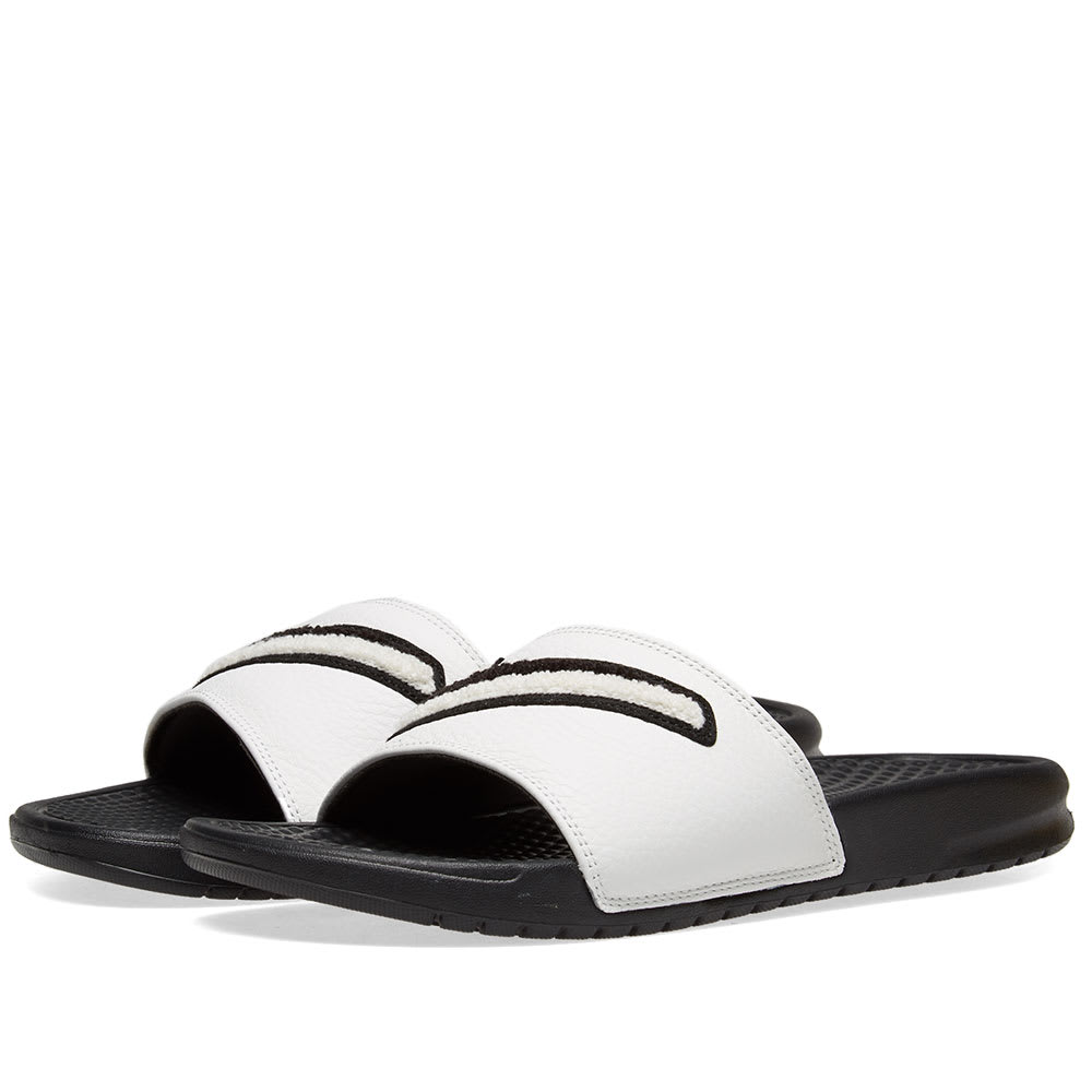 new style bf728 10dfe Nike Benassi JDI Chenille Black   Summit White   END.