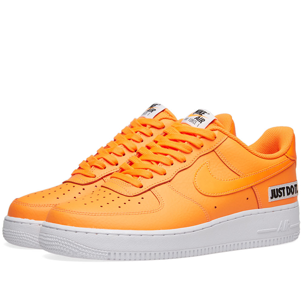 uk availability 38fd1 a1f4d Nike Air Force 1  07 LV8 JDI Leather Total Orange, White   Black   END.