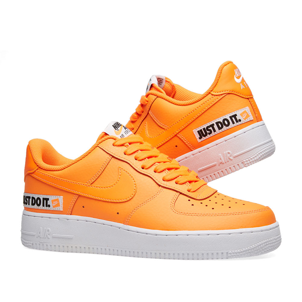 huge selection of e12cf a21b0 Nike Air Force 1  07 LV8 JDI Leather. Total Orange ...