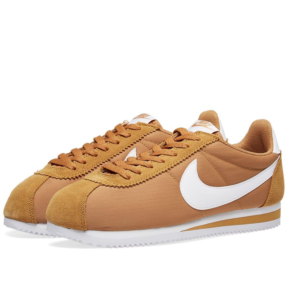 80de9d17ca3a Nike Classic Cortez Nylon Muted Bronze   White