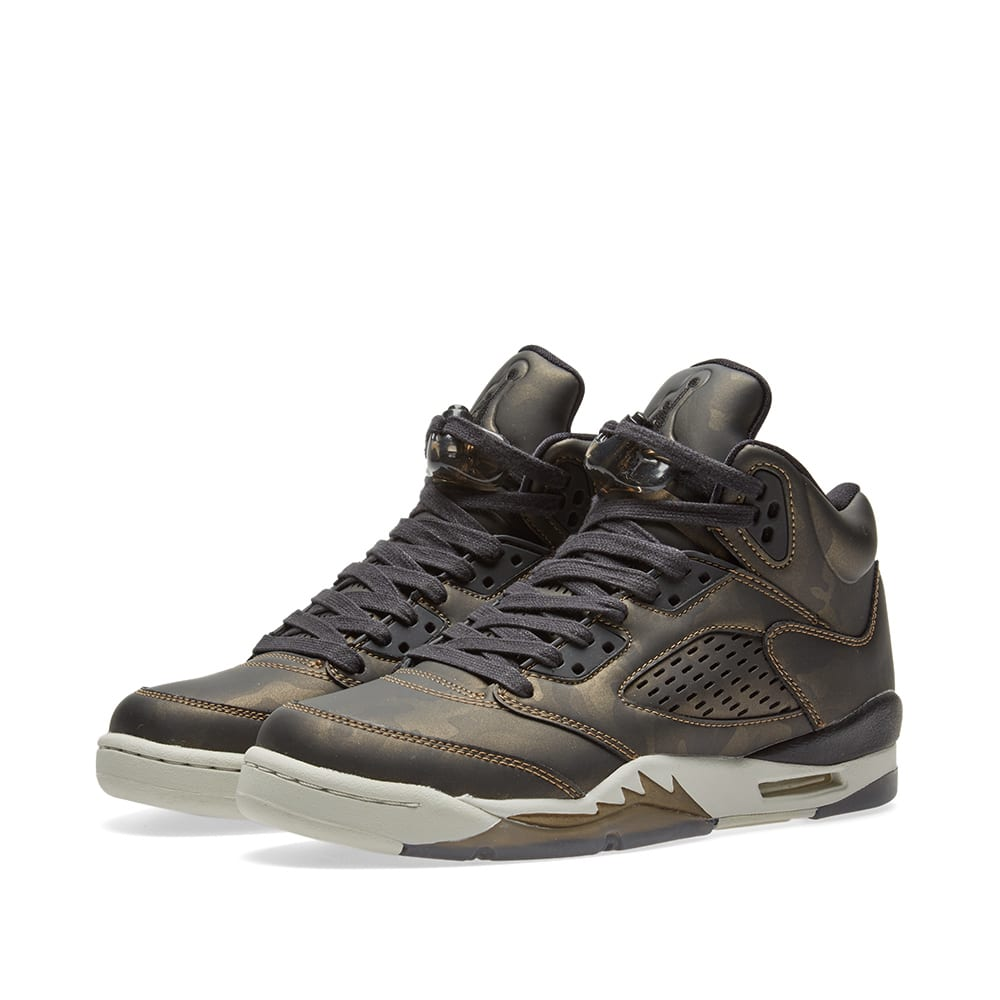 8f688e01f2dc Nike Air Jordan 5 Retro Premium Heiress GS Black