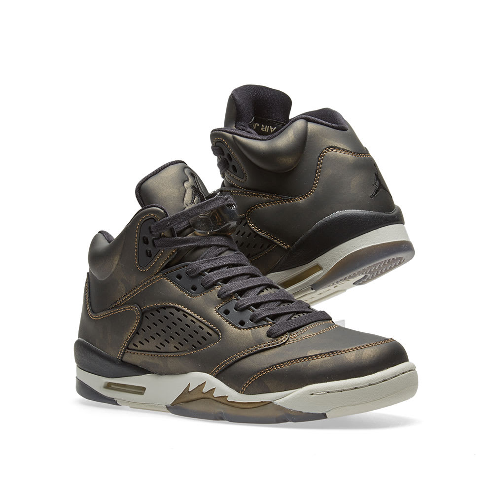 d46290fbe66d Nike Air Jordan 5 Retro Premium Heiress GS. Black ...