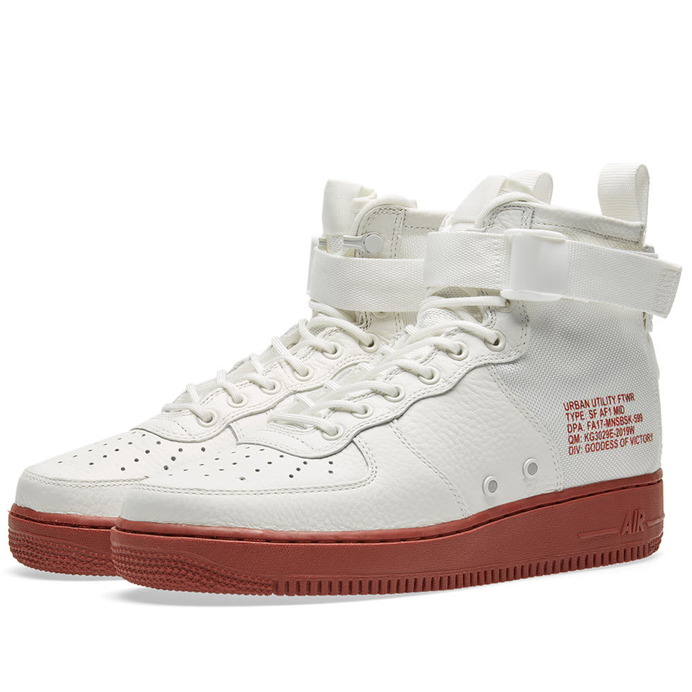 buy online 39bfd 08422 Nike SF Air Force 1 Utility Mid Ivory   Mars Stone   END.