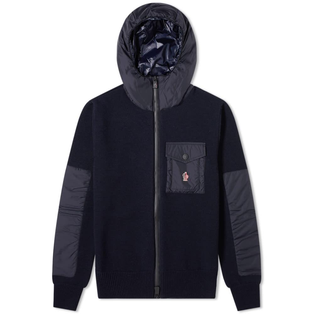 Moncler Grenoble Nylon Hooded Knitted Jacket
