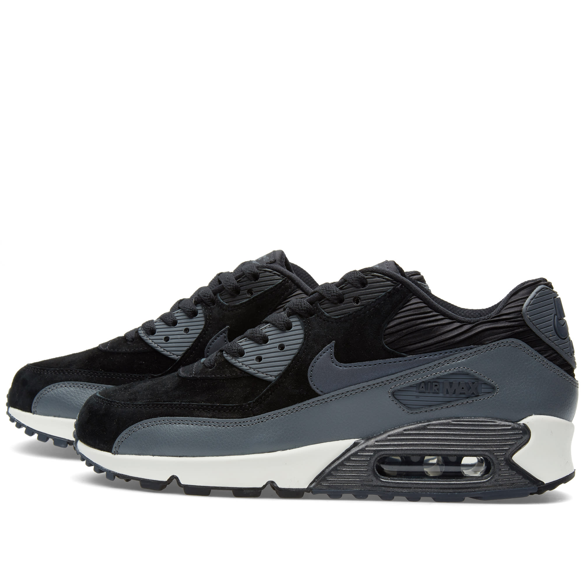 518599aedf Nike W Air Max 90 Leather Black & Metallic Hematite   END.