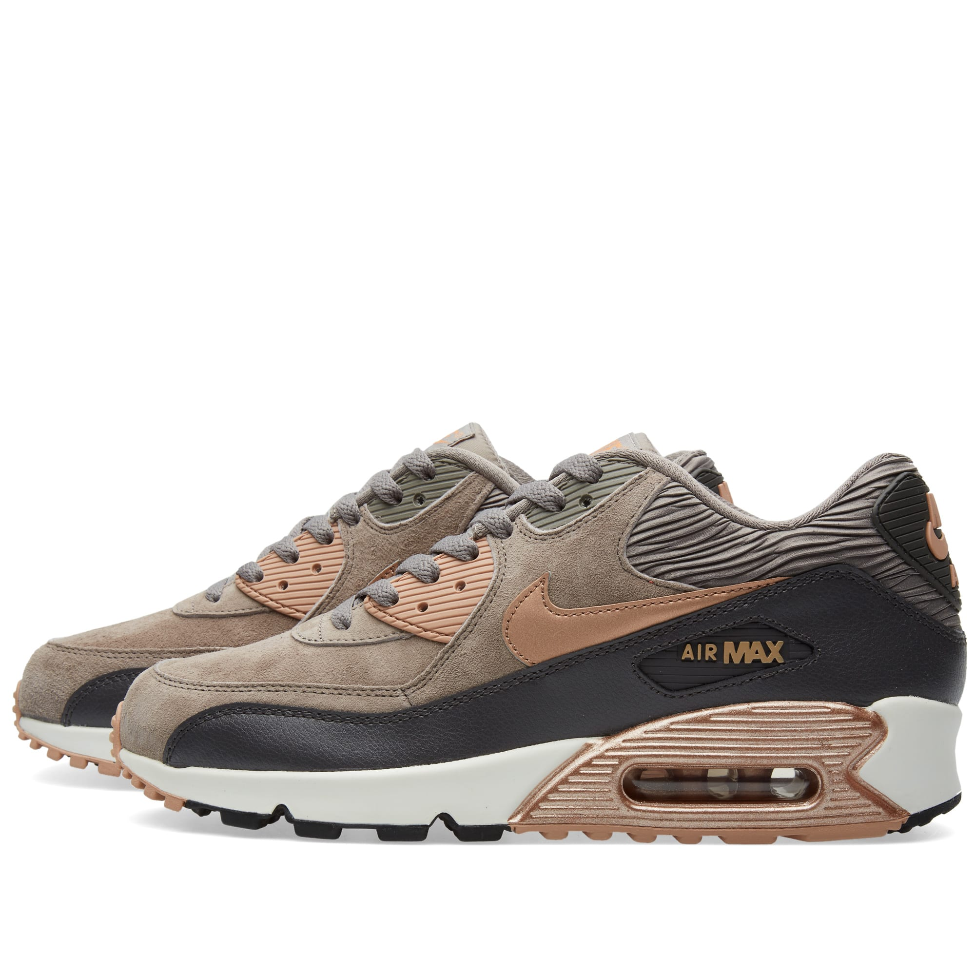 new product 75d97 aab6f Nike W Air Max 90 Leather Iron & Metallic Red Bronze | END.