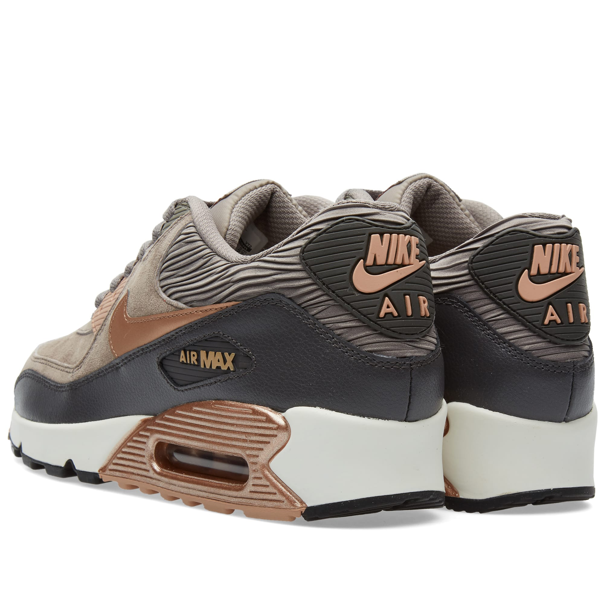 best cheap 6dd63 21ad7 Nike W Air Max 90 Leather Iron   Metallic Red Bronze   END.