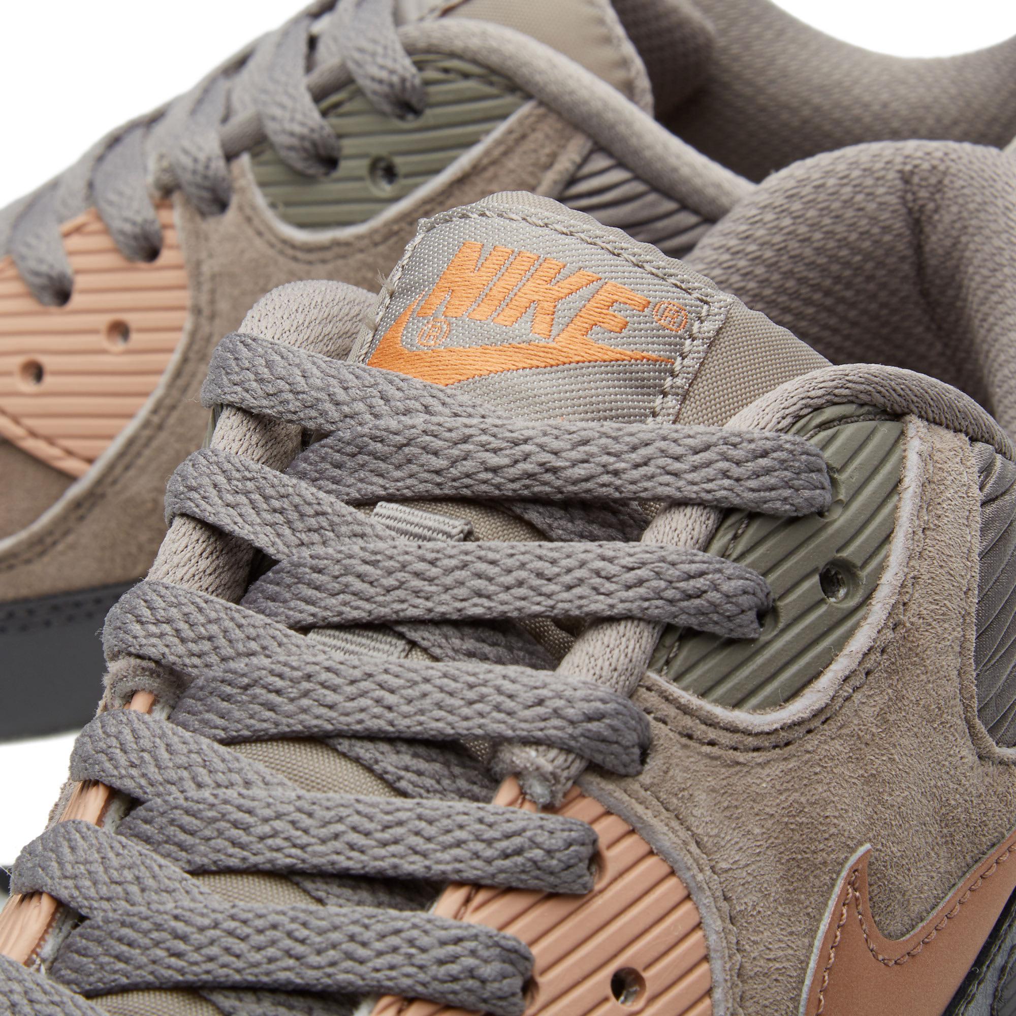 Nike Air Max 90 (w) Iron Metallic Red Bronze Leather