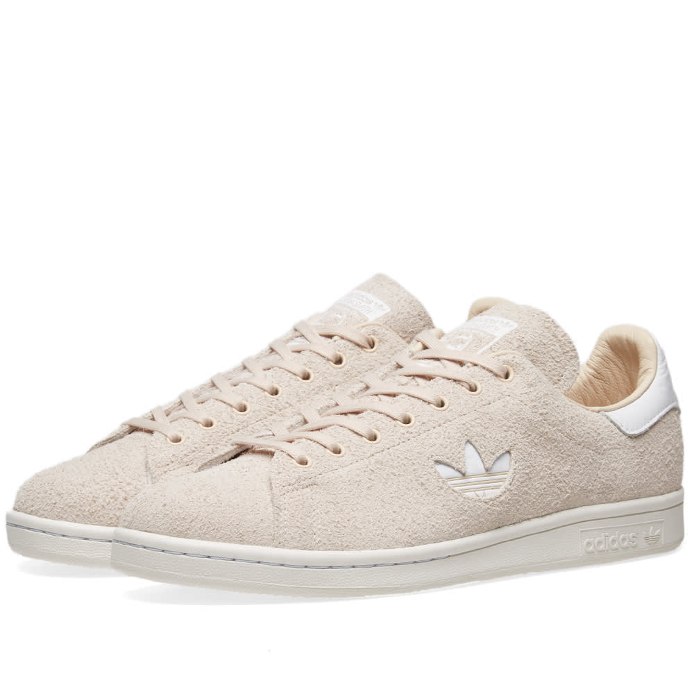 d9fd0950707257 Adidas Stan Smith Premium Suede Linen   Crystal White