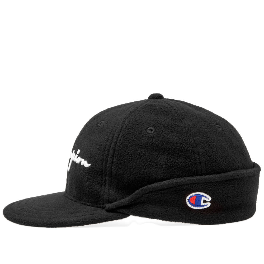 0490b8f028f75 Champion Reverse Weave Script Logo Baseball Cap Black