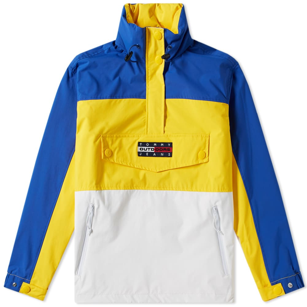b44ef9945f3f Tommy Jeans 6.0 Women s Colour Block Popover Jacket W6 Lemon Chrome   Multi