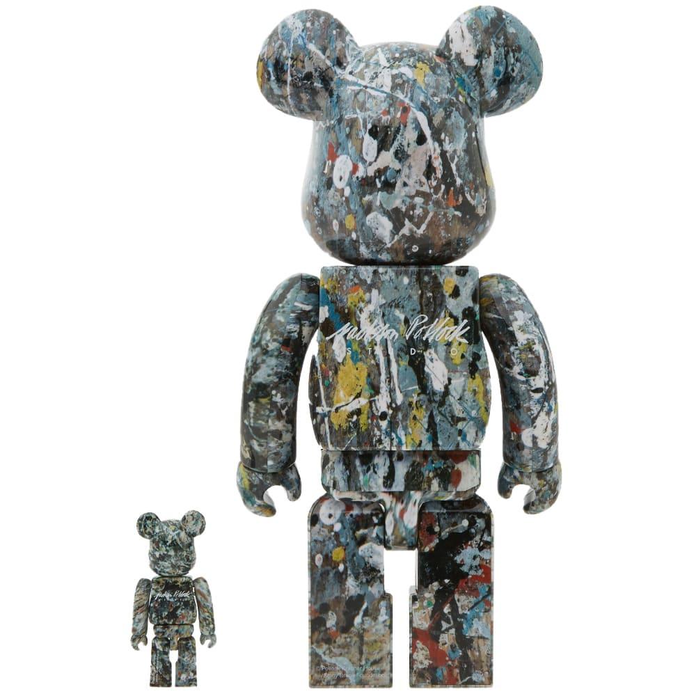 Medicom BE@RBRICK Jackson Pollock Ver.2.0 100/% 400/% Bearbrick Figure