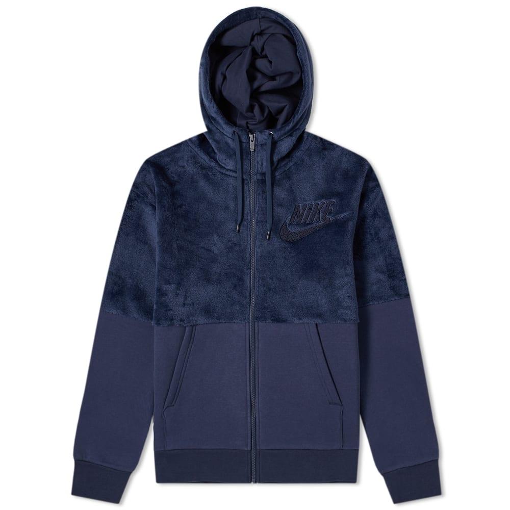 Nike Hairy Sherpa Winter Hoody in Blue