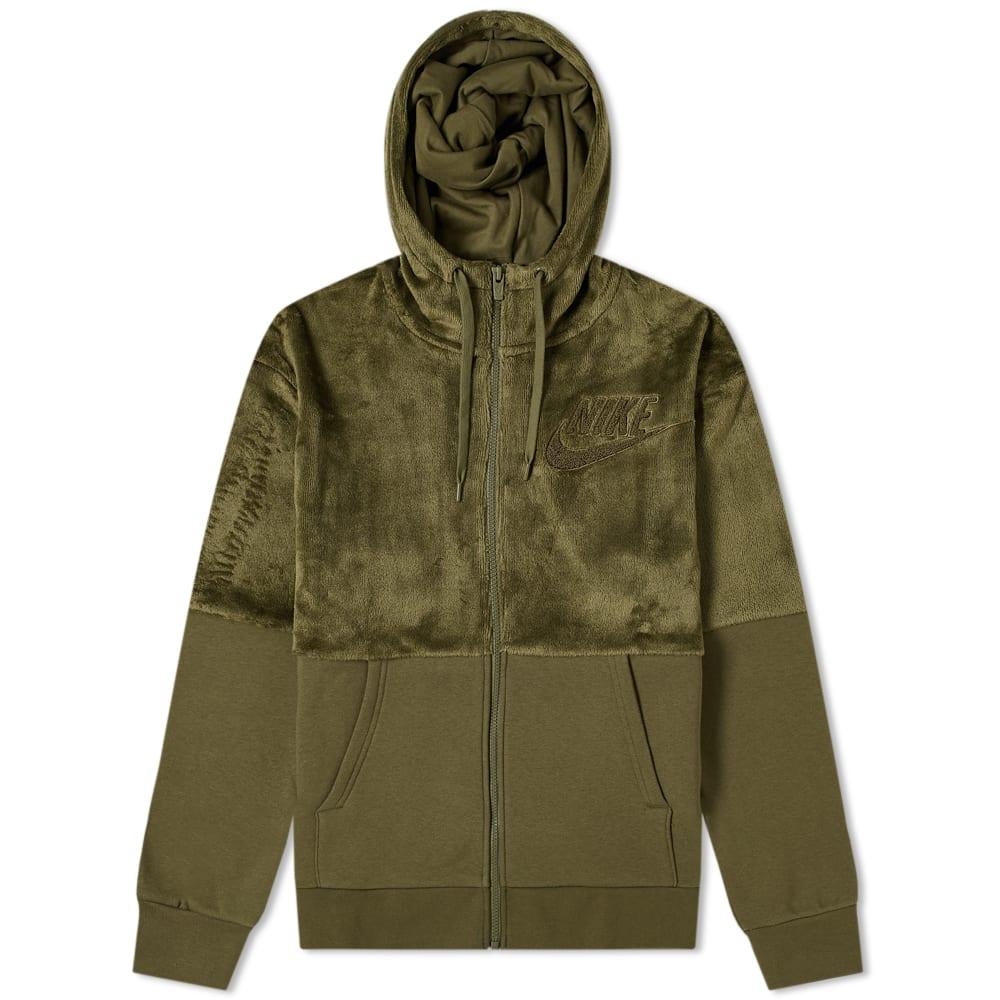 Nike Hairy Sherpa Winter Hoody in Green