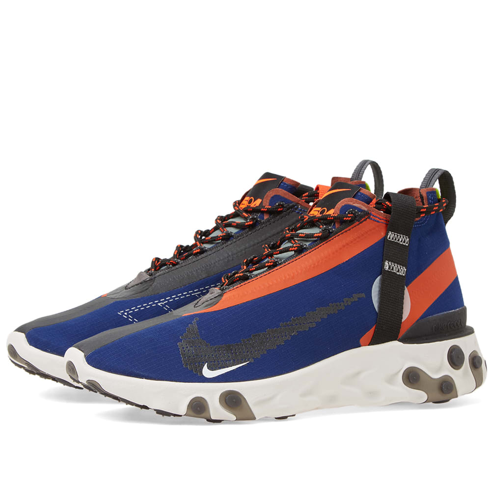 ladrón expedición Emular  Nike React Runner Mid WR ISPA Blue Void, Black & Team Orange | END.