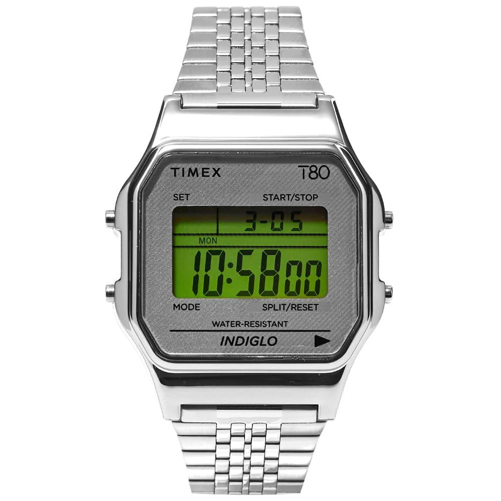 Timex Archive  T80 Digital Watch In Silver
