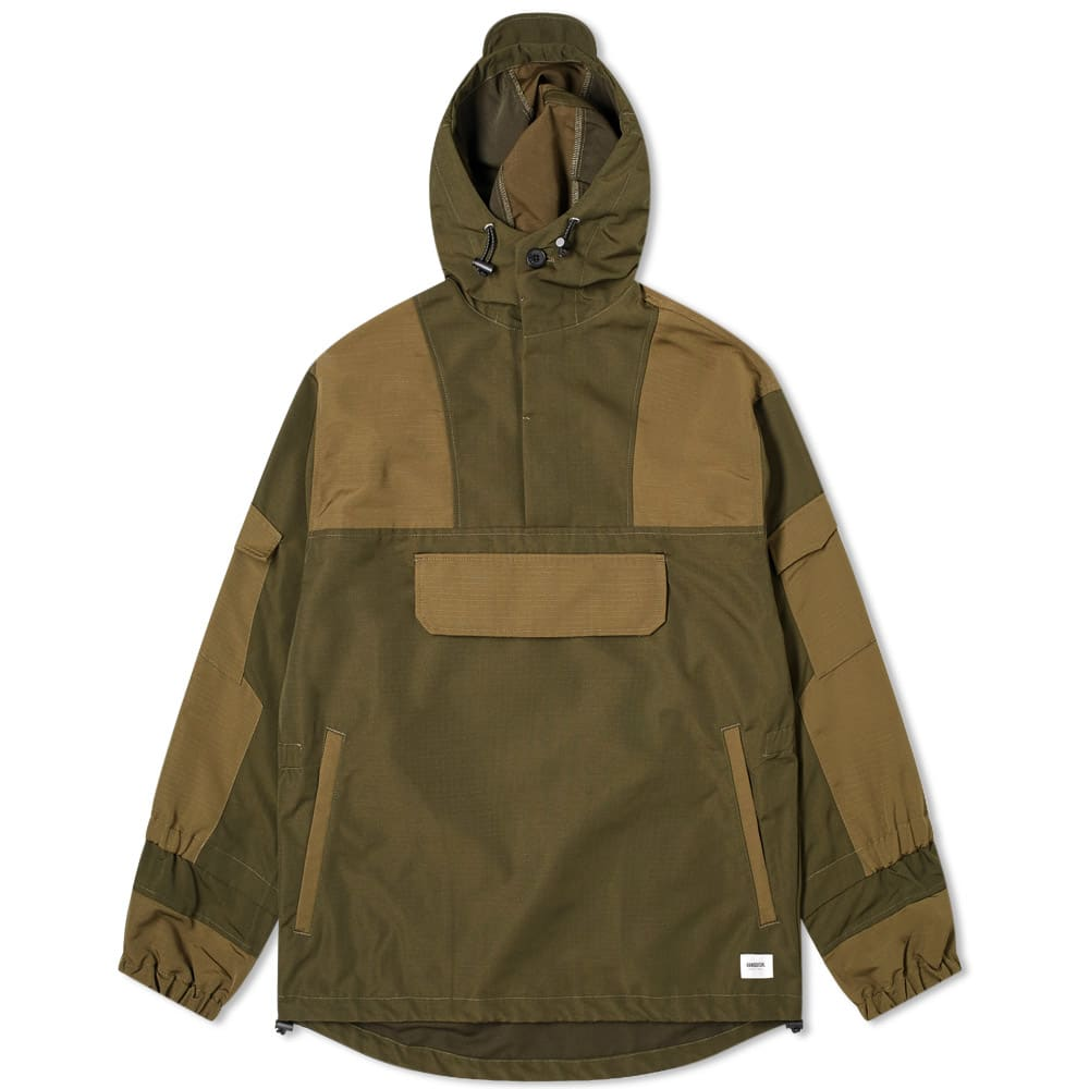 Vanquish Pullover Military Jacket In Green