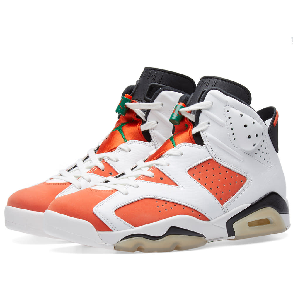 online store d7617 59793 Nike Air Jordan 6 Retro  Gatorade  White, Team Orange   Black   END.