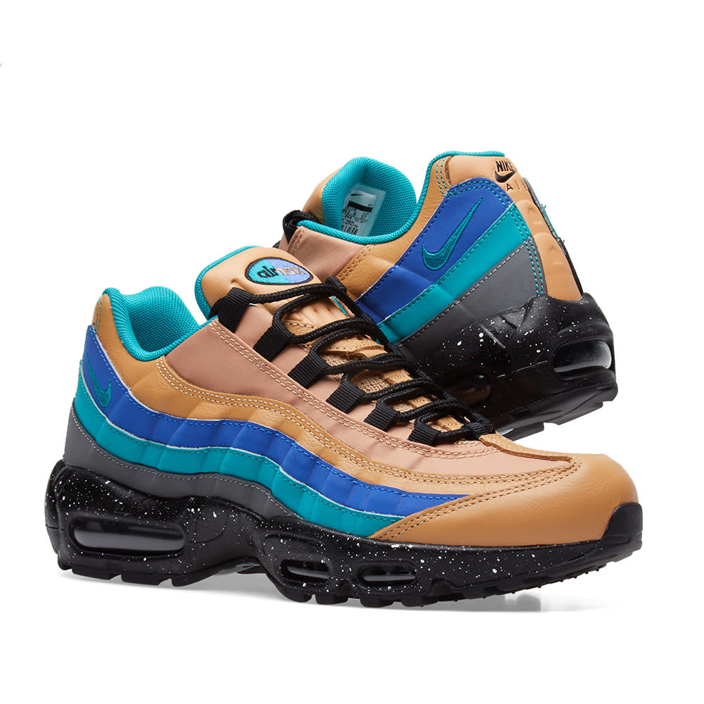 Nike Air Max 95 Premium 538416204 Praline Turbo Green Grey