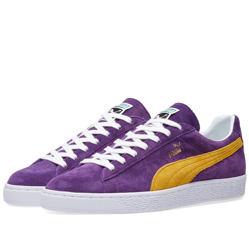 c94f40a398ea Puma x Collectors Suede Classic Heliotrope   Spectra Yellow