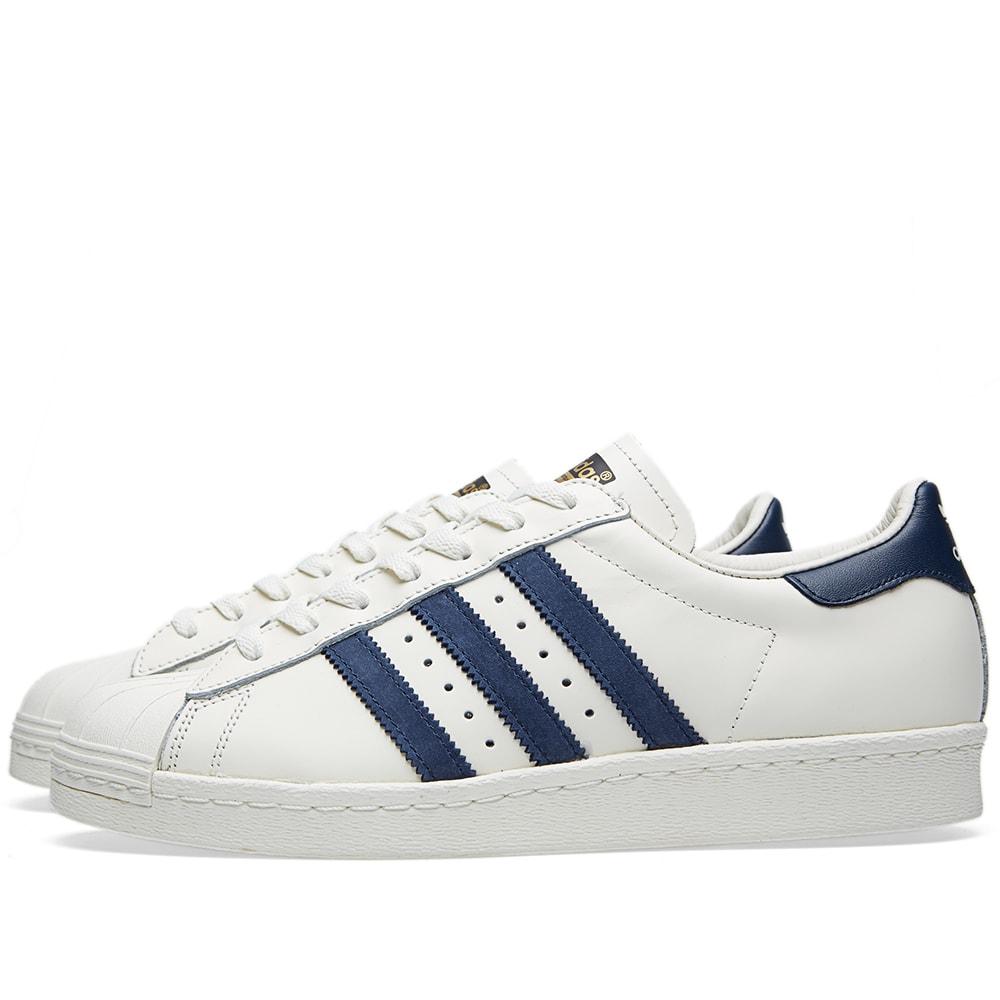 adidas Originals Adidas originals sneakers SUPERSTAR 80s DLX SUEDE superstar eighty DLX suede college eight green vintage white S15 goal domet