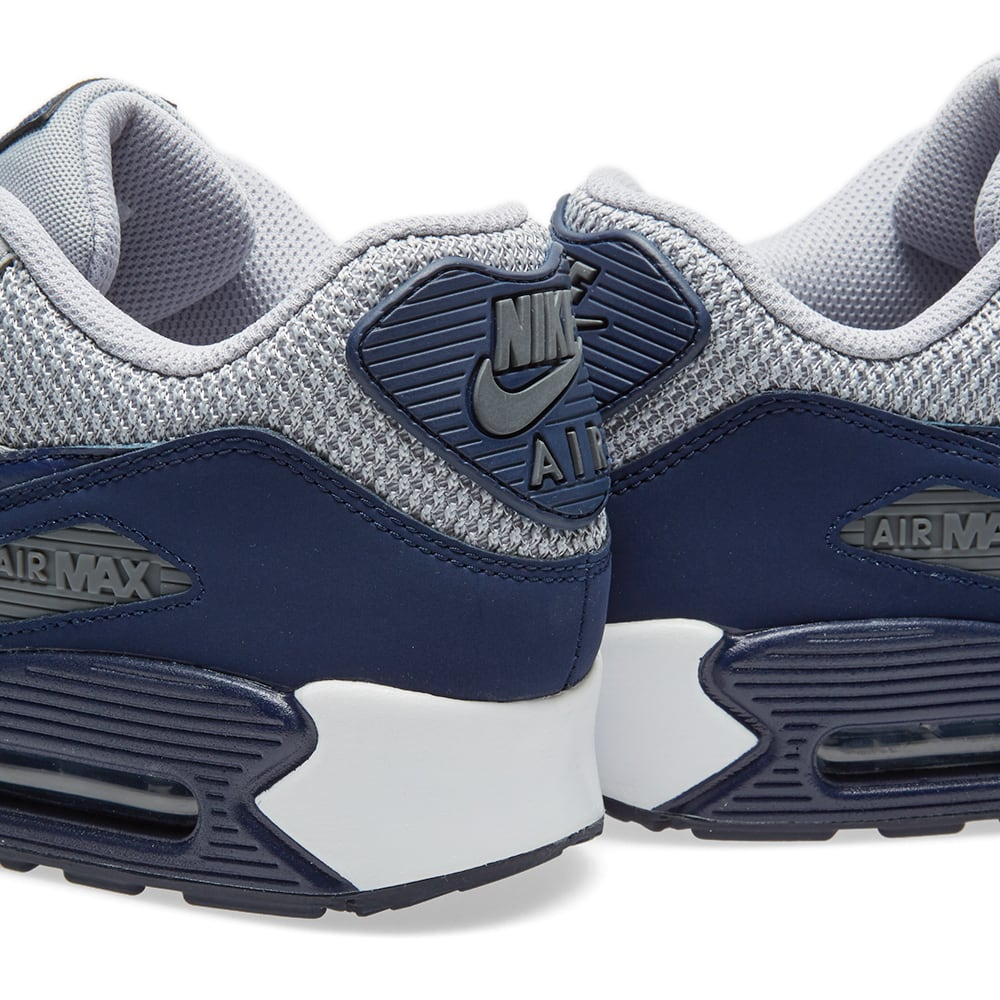 finest selection d34ef 8a36c Nike Air Max 90 Essential Wolf Grey, Binary Blue   White   END.