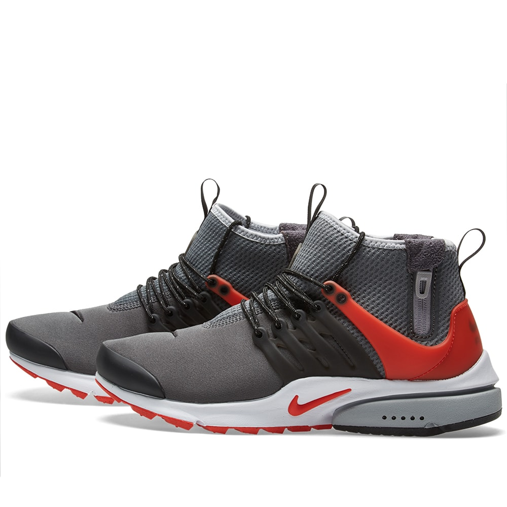 Details zu Nike Air Presto Mid Utility UK 7 Dark Grey Max Orange Black 859524 004