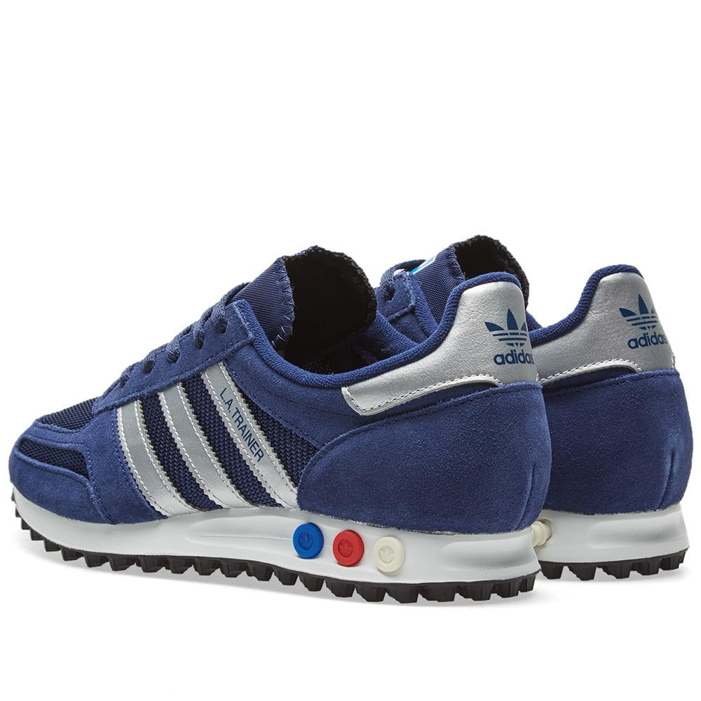 low priced 48513 9c154 Adidas LA Trainer Blue, Silver   Grey Heather   END.