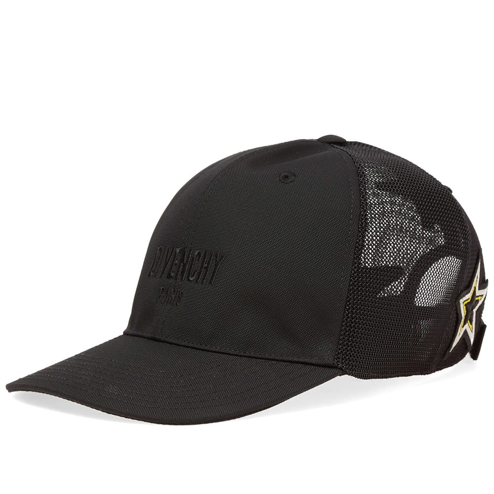 4dd42ed8211 Givenchy Star Patches Logo Cap Black   Yellow