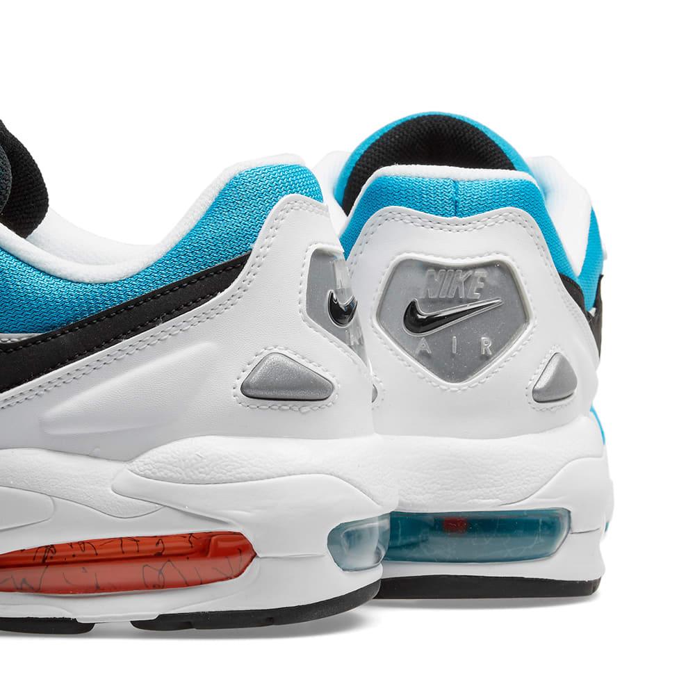 best service 7e71d 5bb99 Nike Air Max2 Light White, Blue   Orange   END.