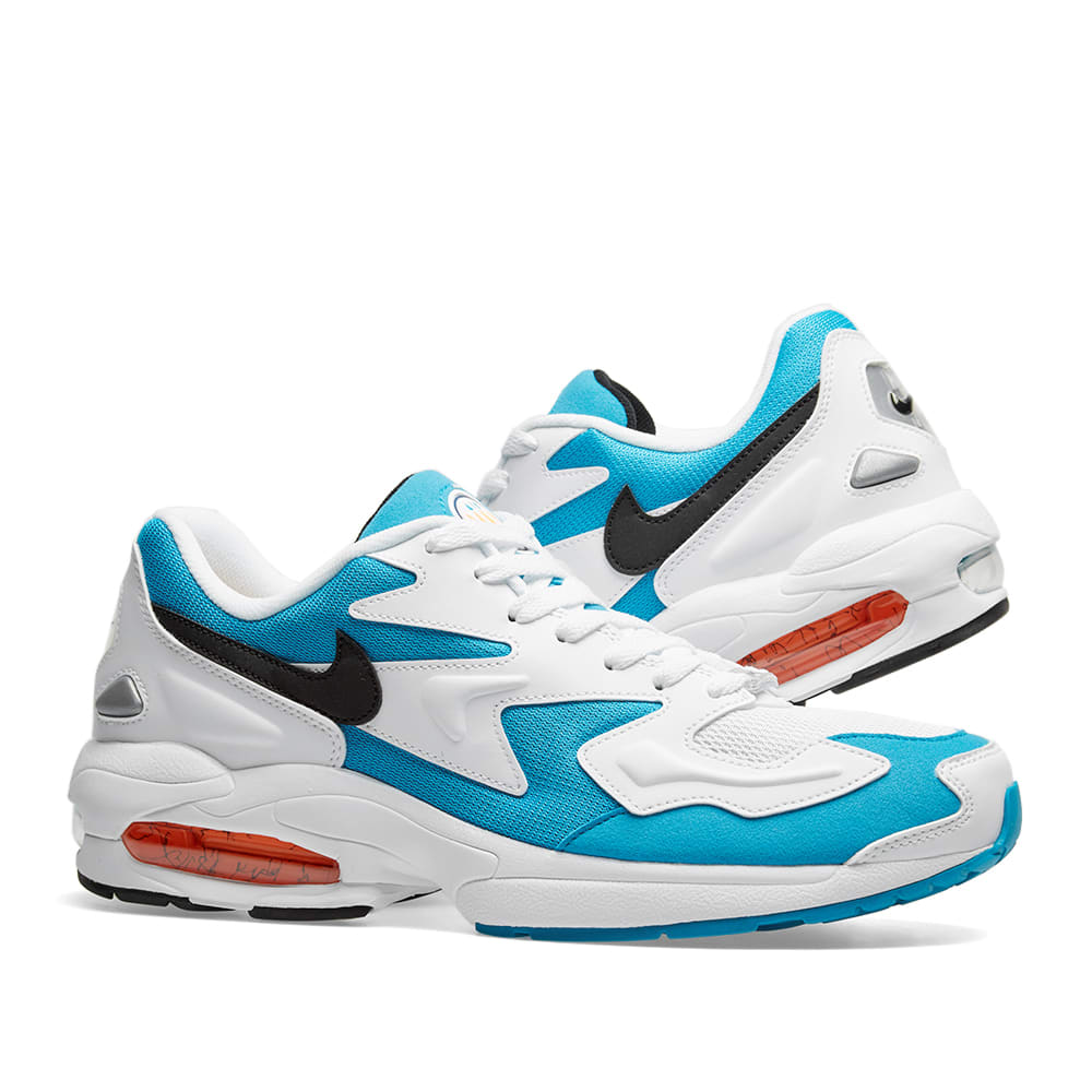 sale retailer 58be0 13ce1 Nike Air Max2 Light. White, Blue   Orange