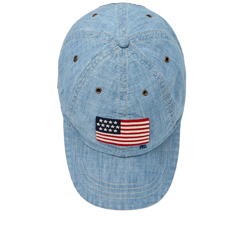 e82136e85d733 Polo Ralph Lauren U.S. Flag Classic Baseball Cap Chambray