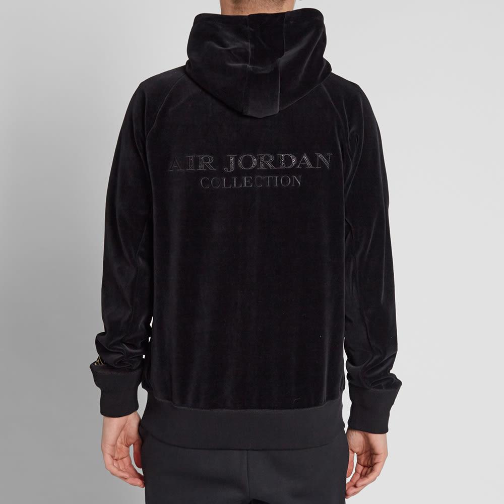 0075e7026b35db Nike Air Jordan x OVO Velour Hoody Black   Metallic Gold
