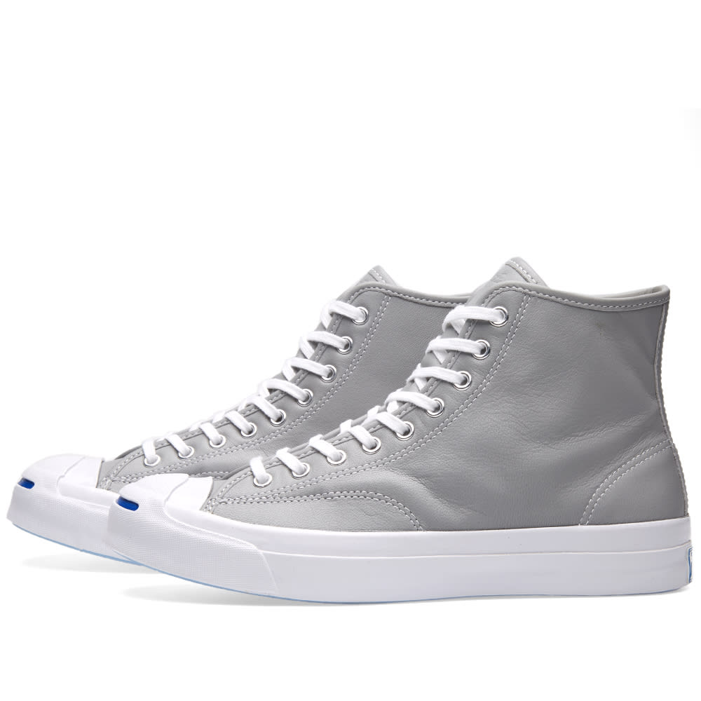 cfa95610c1b20b Converse Jack Purcell Signature Hi Leather Dolphin   White