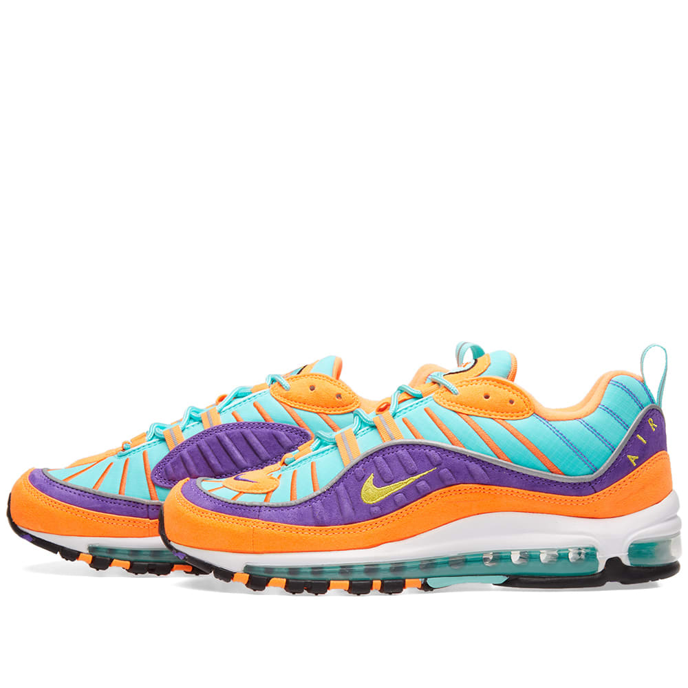 low priced a7ab1 cdcc2 Nike Air Max 98 QS Cone, Tour Yellow   Grape   END.