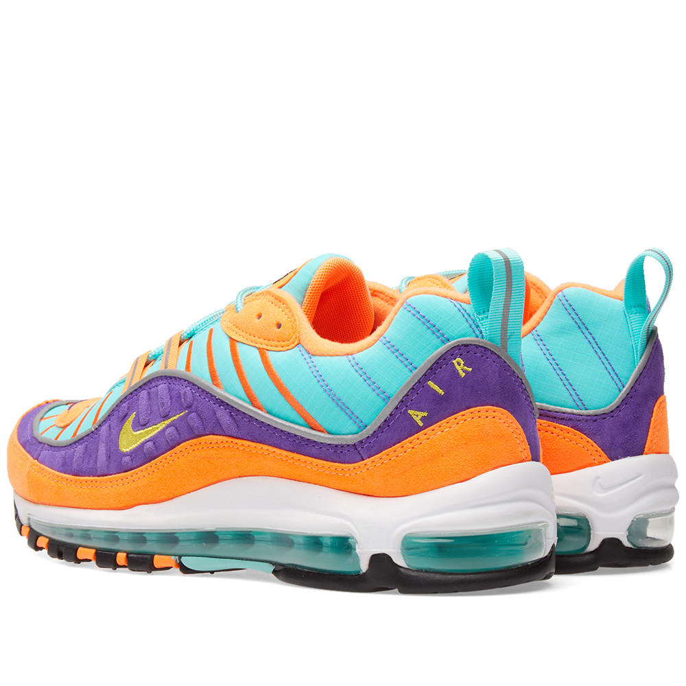 low priced 7b148 8d79e Nike Air Max 98 QS Cone, Tour Yellow   Grape   END.