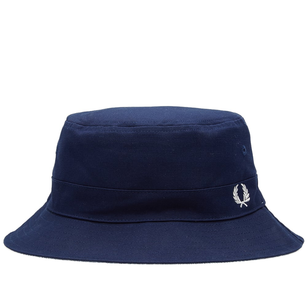 22d7627ff1702 Fred Perry Reversible Bucket Hat Navy   Sky