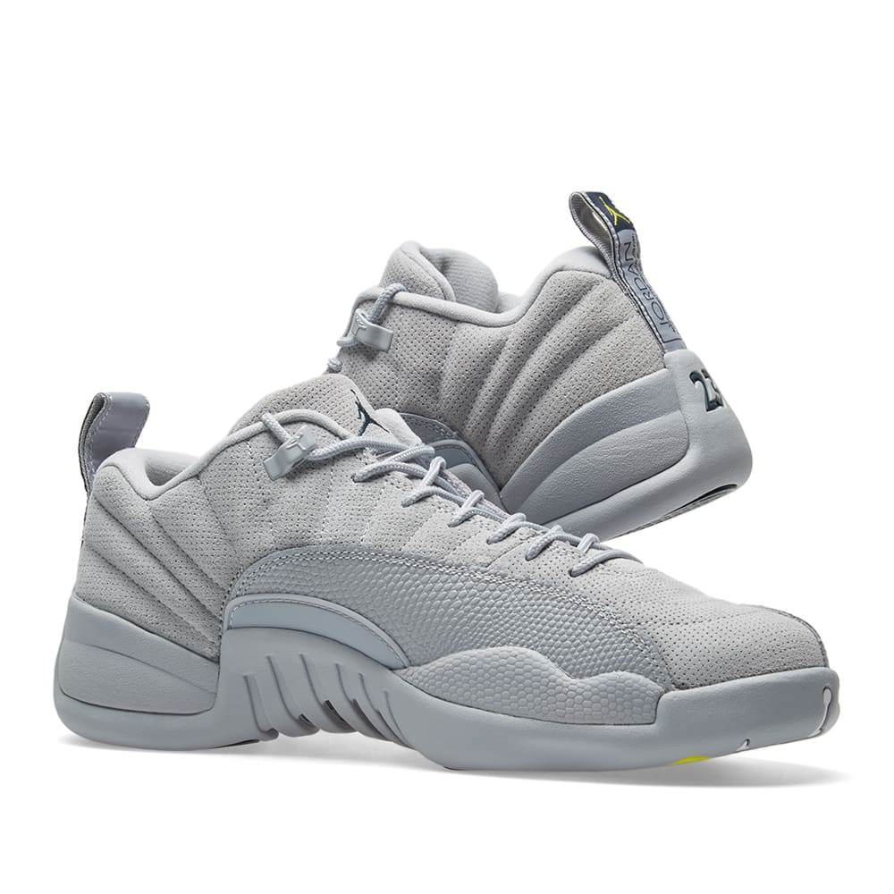 buy online 0ea70 eea65 Nike Air Jordan 12 Retro Low. Wolf Grey, Navy   Electrolime