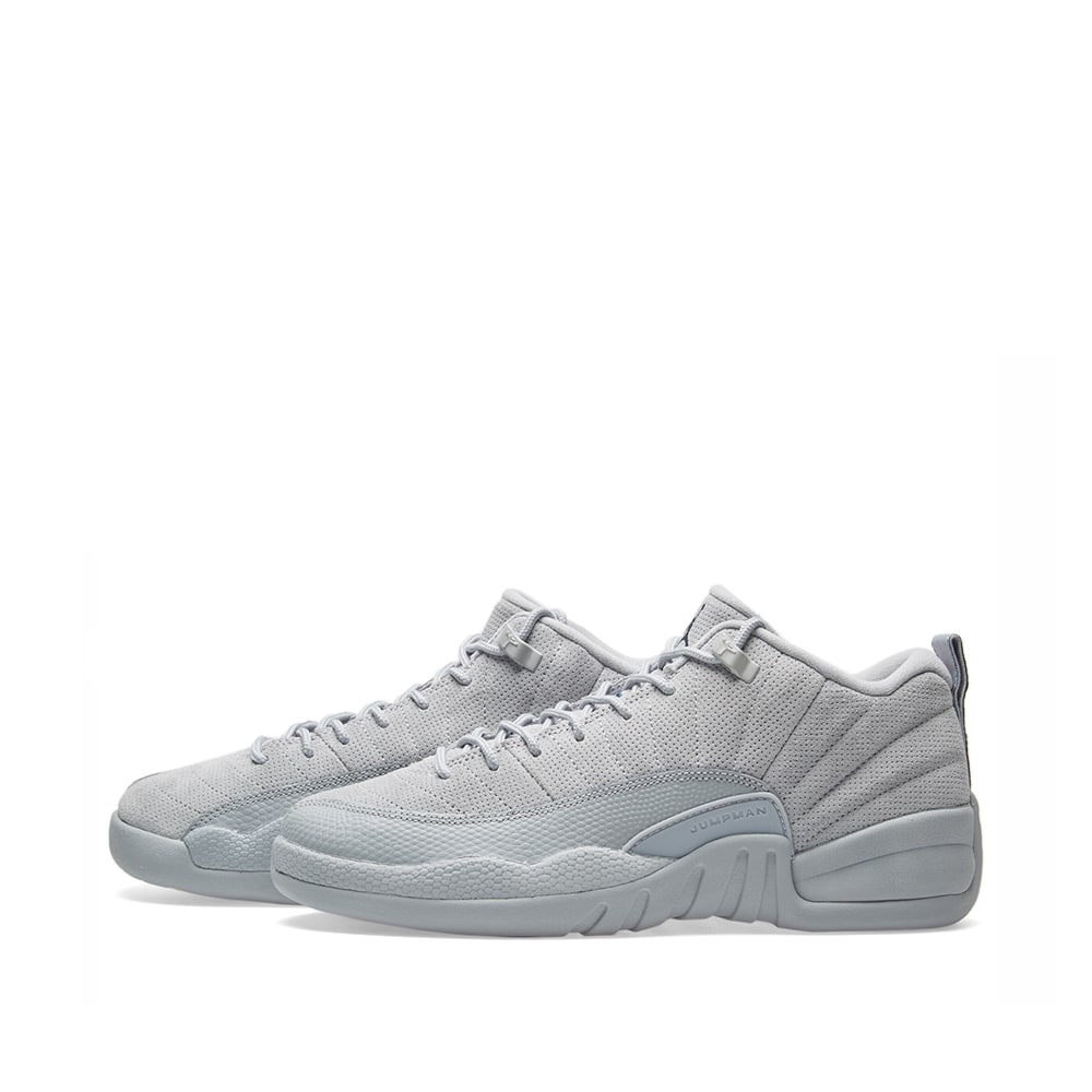 finest selection 772e8 3ff6f Nike Air Jordan 12 Retro Low BG Wolf Grey, Navy   Electrolime   END.