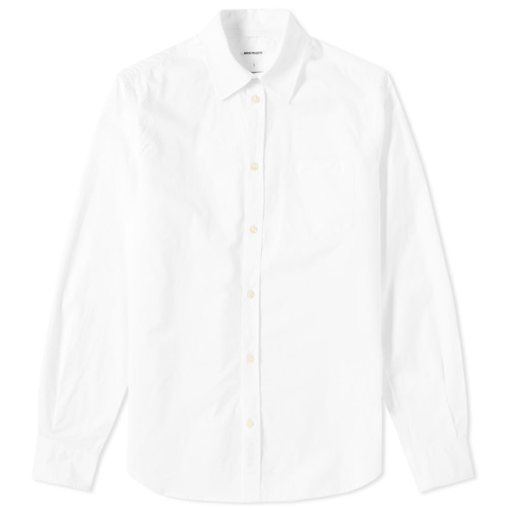 NORSE PROJECTS Anton Button-Down Collar Cotton Oxford Hirt - White