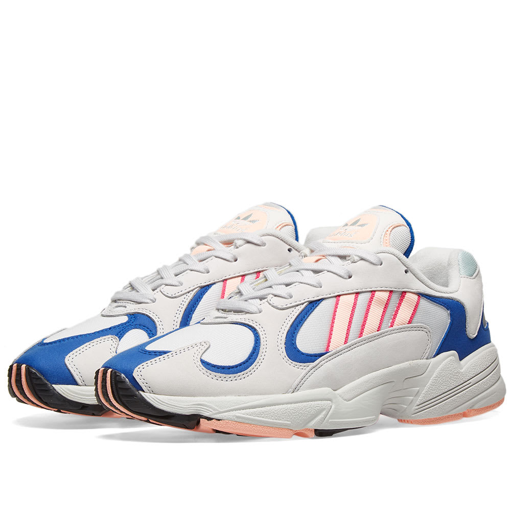 edf656f66c492c Adidas Yung 1 'Watermelon' Crystal White, Orange & Royal | END.