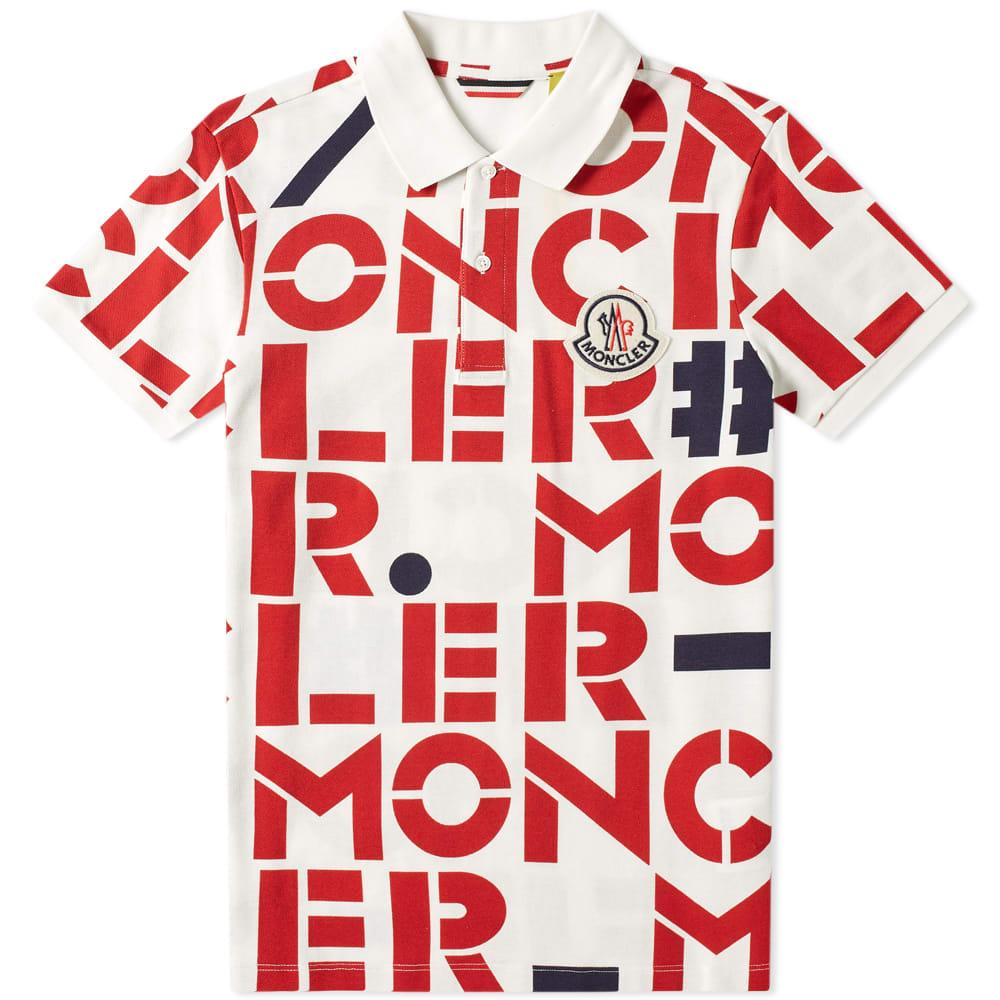 2bde693e0c6 Moncler Genius - 2 Moncler 1952 - All Over Text Logo Polo