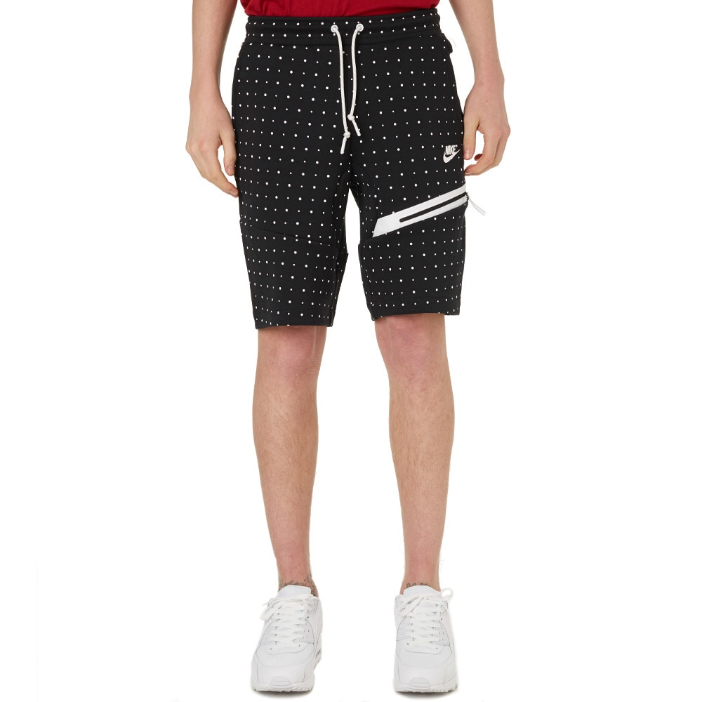 nike tech fleece polka dot short black. Black Bedroom Furniture Sets. Home Design Ideas