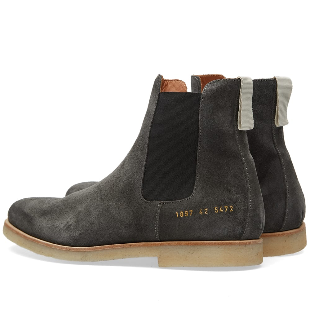 common projects chelsea boot dark grey suede. Black Bedroom Furniture Sets. Home Design Ideas