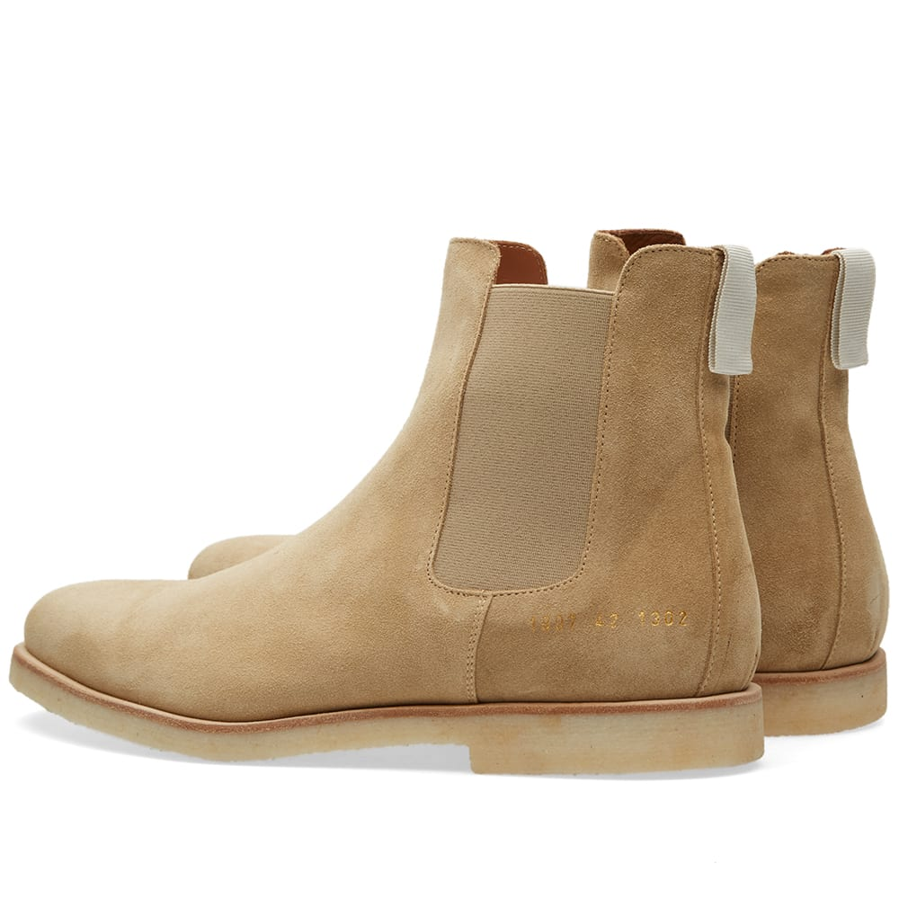 common projects chelsea boot tan suede. Black Bedroom Furniture Sets. Home Design Ideas