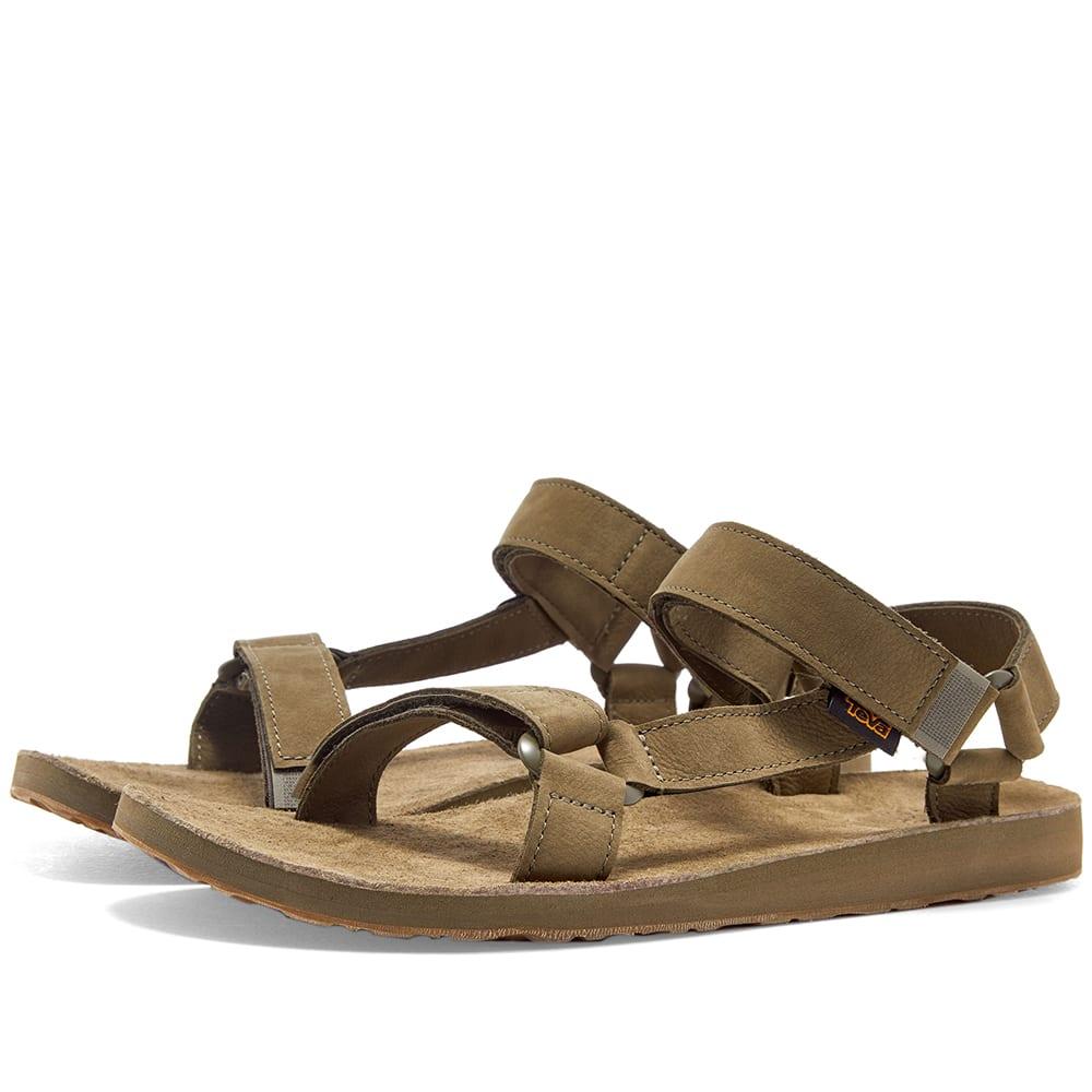 3eaad55b5ddd Teva Original Universal Leather Sandal Burnt Olive