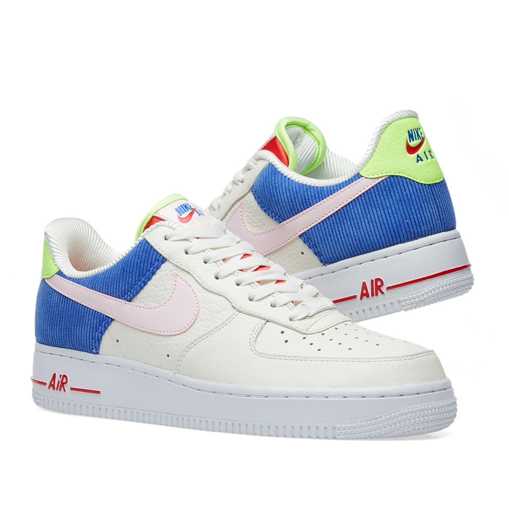 save off 4d231 5fa75 Nike Air Force 1 Low W. Sail, Arctic Pink   Racer Blue